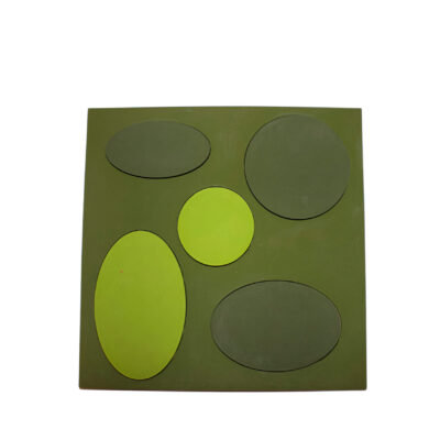lime green stove coaster